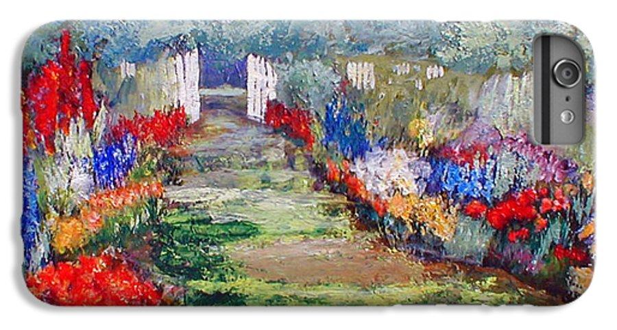 Landscape IPhone 6s Plus Case featuring the painting Enter His Gates by Gail Kirtz