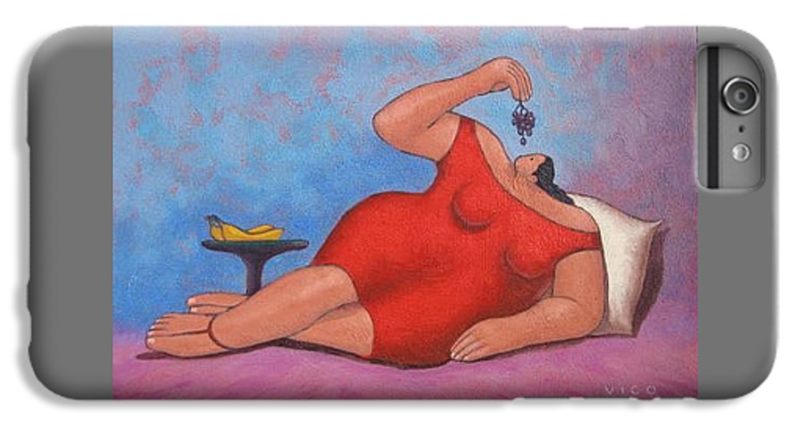 Acrylic IPhone 6s Plus Case featuring the painting Erotic Grapes by Vico Vico