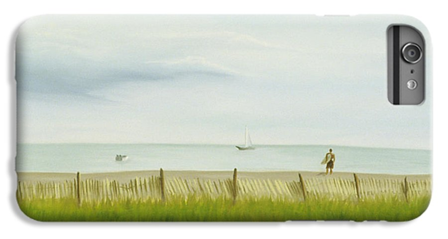 Seascape IPhone 6s Plus Case featuring the painting Evening At Cape May by Lea Novak