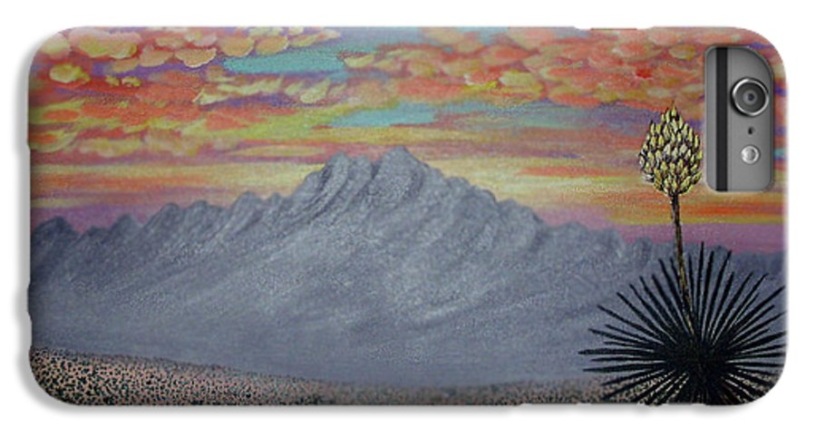 Desertscape IPhone 6s Plus Case featuring the painting Evening In The Desert by Marco Morales