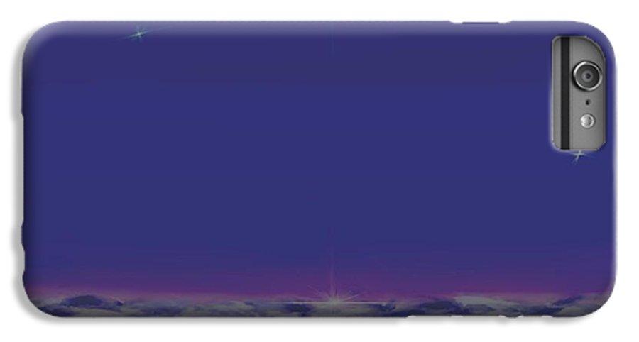 Late Evening.violet Dark Sky.rest.little Stars.last Ray Of Sun.sea.waves.silence. Birds.quiet. IPhone 6s Plus Case featuring the digital art Evening.birds by Dr Loifer Vladimir