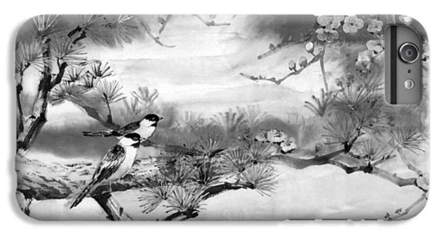 Chinese Painting IPhone 6s Plus Case featuring the painting Expressions Of Spring by Eileen Fong