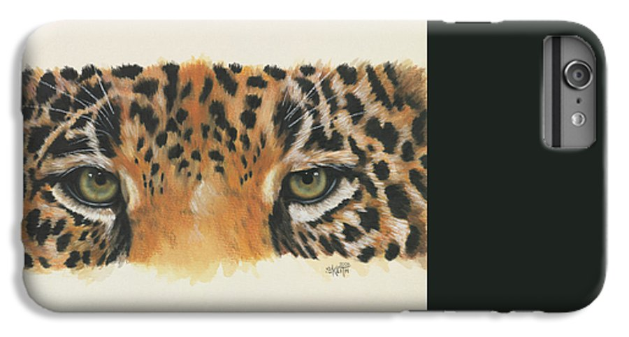 Big Cat IPhone 6s Plus Case featuring the painting Eye-catching Jaguar by Barbara Keith