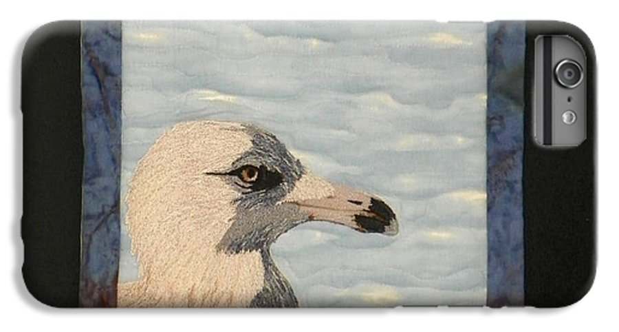 Birds IPhone 6s Plus Case featuring the tapestry - textile Eye Of The Gull by Jenny Williams