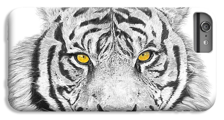 Tiger IPhone 6s Plus Case featuring the drawing Eyes Of The Tiger by Shawn Stallings