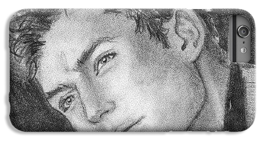Jude Law IPhone 6s Plus Case featuring the drawing Face by Laura Rispoli