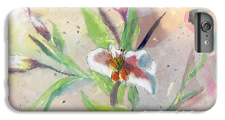 Flower IPhone 6s Plus Case featuring the painting Faded Lilies by Arline Wagner