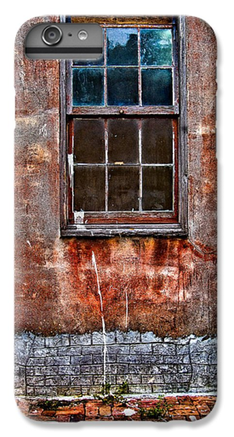 Window IPhone 6s Plus Case featuring the photograph Faded Over Time by Christopher Holmes
