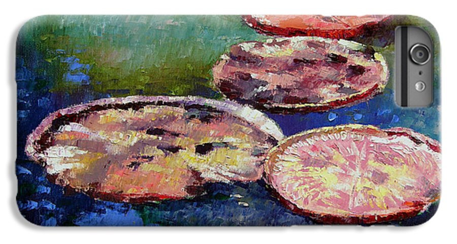 Fall Water Lilies IPhone 6s Plus Case featuring the painting Fall Colors On The Pond by John Lautermilch