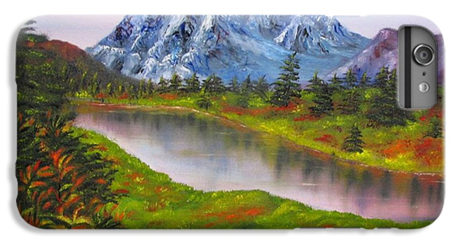 Fall IPhone 6s Plus Case featuring the painting Fall In Mountains Landscape Oil Painting by Natalja Picugina