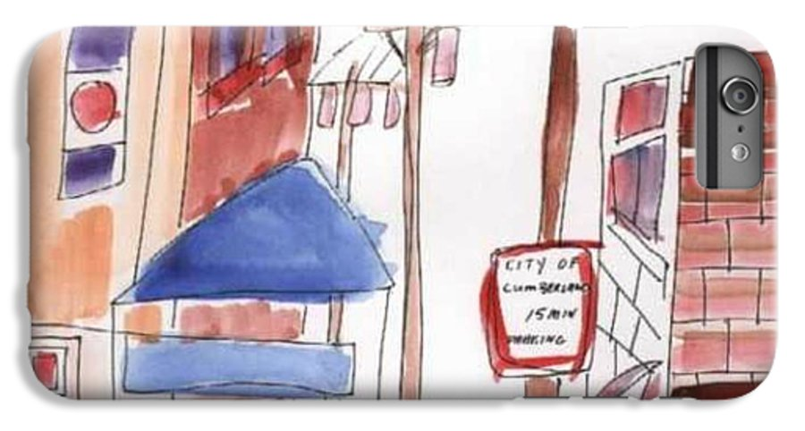 Watercolor IPhone 6s Plus Case featuring the painting Festival In The City 8 by B L Qualls