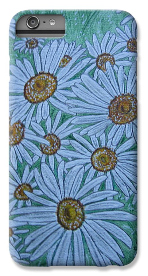 Field IPhone 6s Plus Case featuring the painting Field Of Wild Daisies by Kathy Marrs Chandler