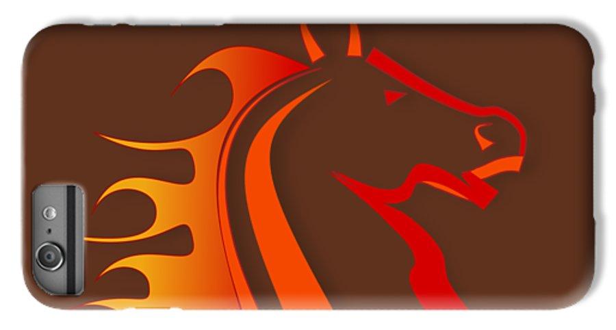 Horse IPhone 6s Plus Case featuring the digital art Fire Horse by Scott Davis