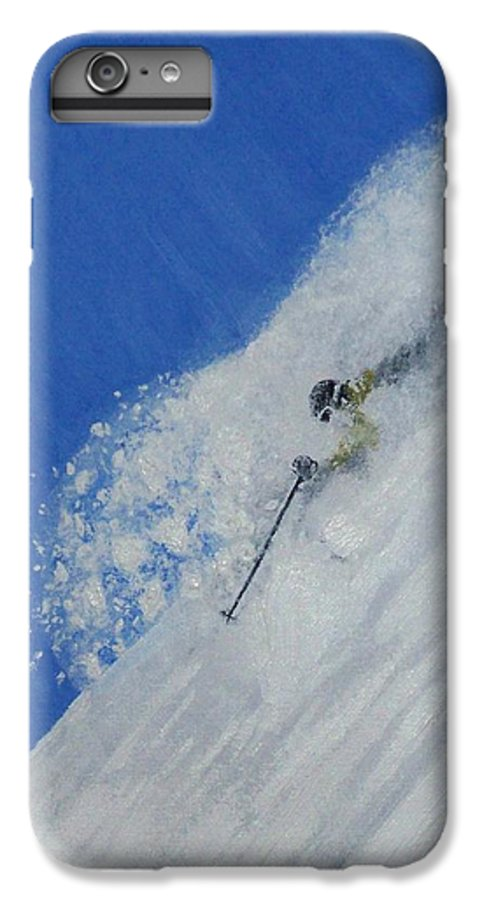 Ski IPhone 6s Plus Case featuring the painting First by Michael Cuozzo