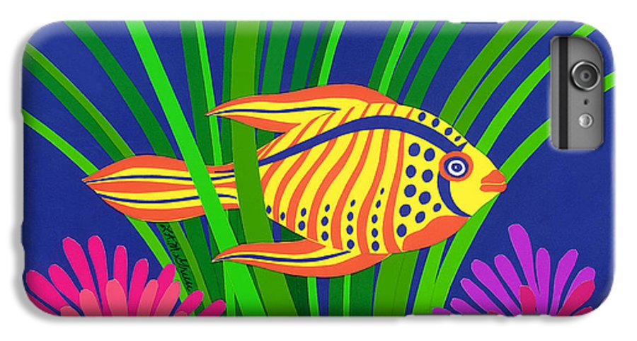 Nature IPhone 6s Plus Case featuring the drawing Fish by Lucyna A M Green