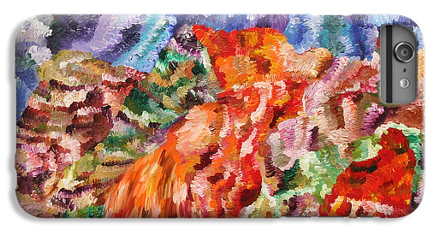 Fusionart IPhone 6s Plus Case featuring the painting Flock by Ralph White