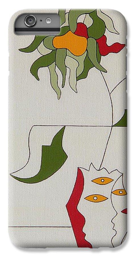 Flower Modern Constructivisme Special Original IPhone 6s Plus Case featuring the painting Flower by Hildegarde Handsaeme