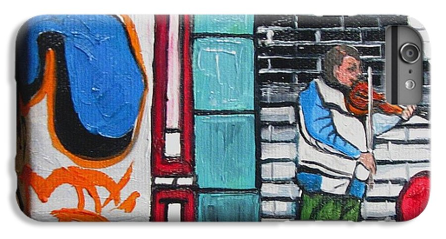 Gaffitti Art IPhone 6s Plus Case featuring the painting For The Love Of Music by Patricia Arroyo