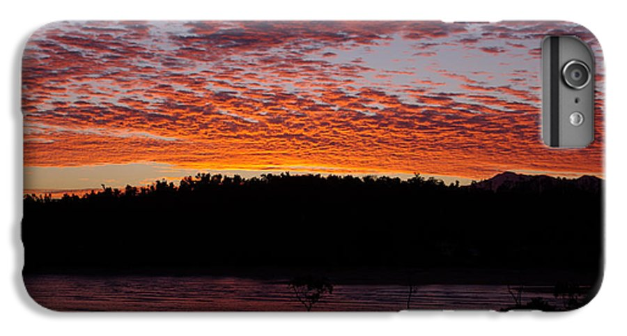 Landscape IPhone 6s Plus Case featuring the photograph Four Elements Sunset Sequence 2 Coconuts Qld by Kerryn Madsen - Pietsch