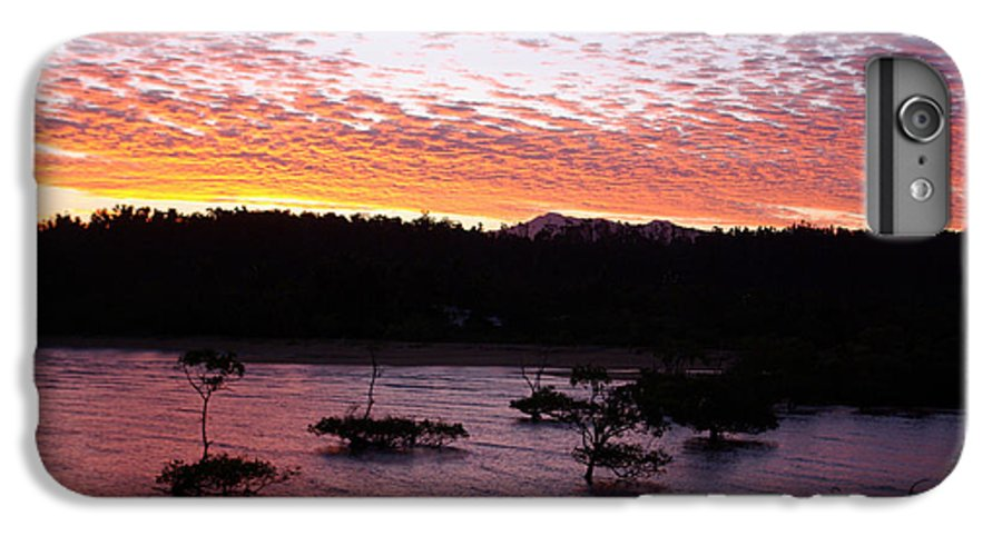 Landscape IPhone 6s Plus Case featuring the photograph Four Elements Sunset Sequence 3 Coconuts Qld by Kerryn Madsen - Pietsch