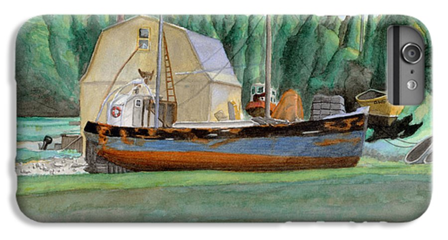 Fishing Boat IPhone 6s Plus Case featuring the painting Freeport Fishing Boat by Dominic White