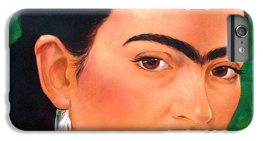 Frida Kahlo IPhone 6s Plus Case featuring the painting Frida Kahlo 2003 by Jerrold Carton