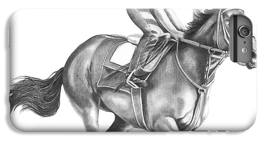 Horse IPhone 6s Plus Case featuring the drawing Full Gallop by Murphy Elliott