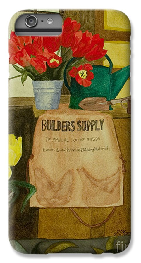 Tulips IPhone 6s Plus Case featuring the painting Gardner by Louise Magno