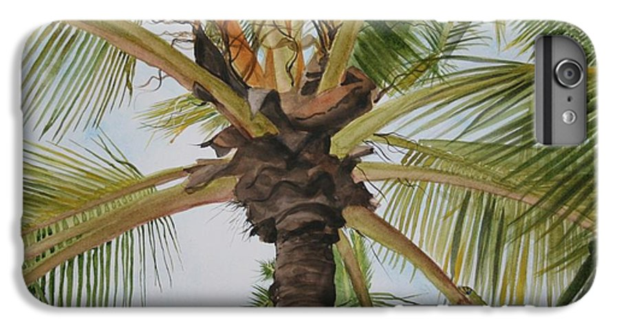 Palm Tree IPhone 6s Plus Case featuring the painting Gecko Heaven by Jean Blackmer