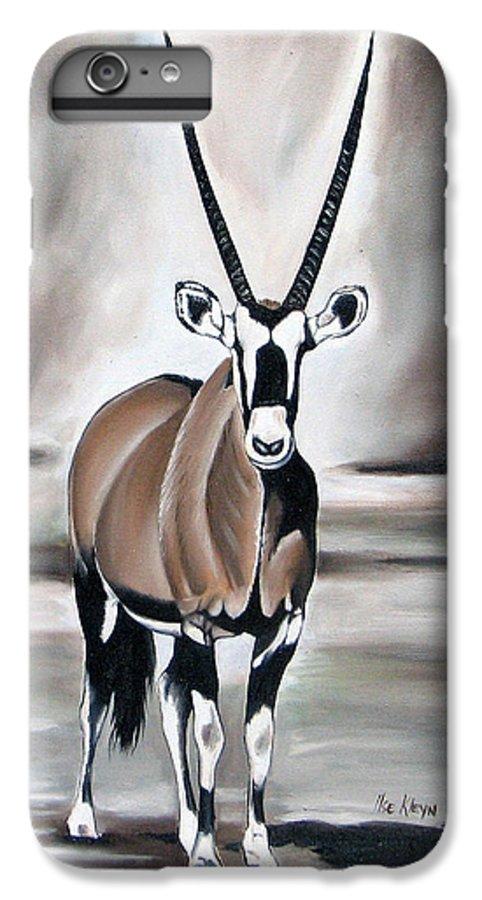 Gemsbok IPhone 6s Plus Case featuring the painting Gemsbok - Solitude by Ilse Kleyn