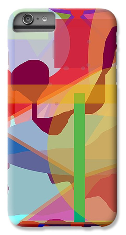 Abstract IPhone 6s Plus Case featuring the painting Geo Frenzy by Pharris Art
