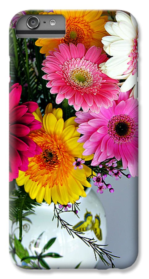 Flower IPhone 6s Plus Case featuring the photograph Gerbera Daisy Bouquet by Marilyn Hunt