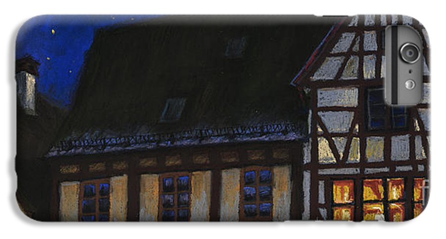 Pastel IPhone 6s Plus Case featuring the painting Germany Ulm Fischer Viertel Moonroofs by Yuriy Shevchuk