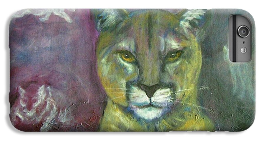Wildlife IPhone 6s Plus Case featuring the painting Ghost Cat by Darla Joy Johnson