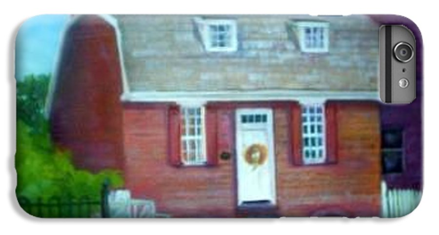 Revell House IPhone 6s Plus Case featuring the painting Gingerbread House by Sheila Mashaw