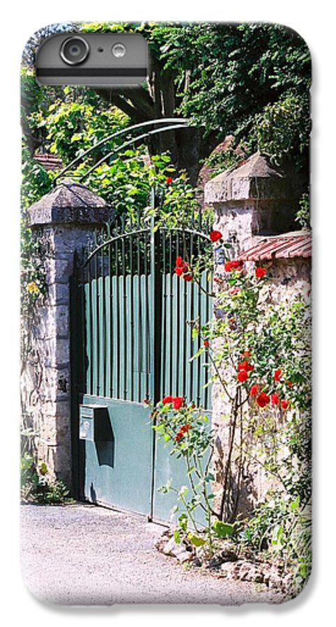 Giverny IPhone 6s Plus Case featuring the photograph Giverny Gate by Nadine Rippelmeyer