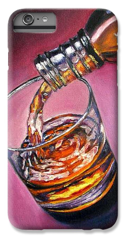 Glass Of Wine IPhone 6s Plus Case featuring the painting Glass Of Wine Original Oil Painting by Natalja Picugina