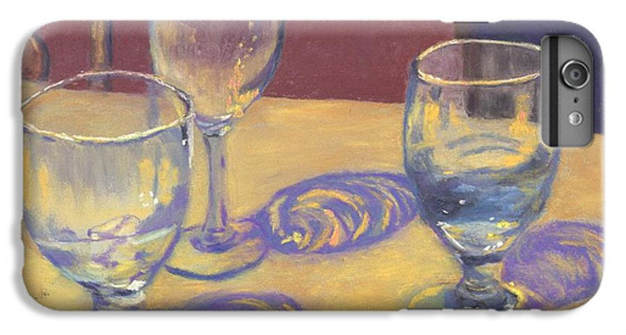 Glasses IPhone 6s Plus Case featuring the painting Glasslights by Sharon E Allen