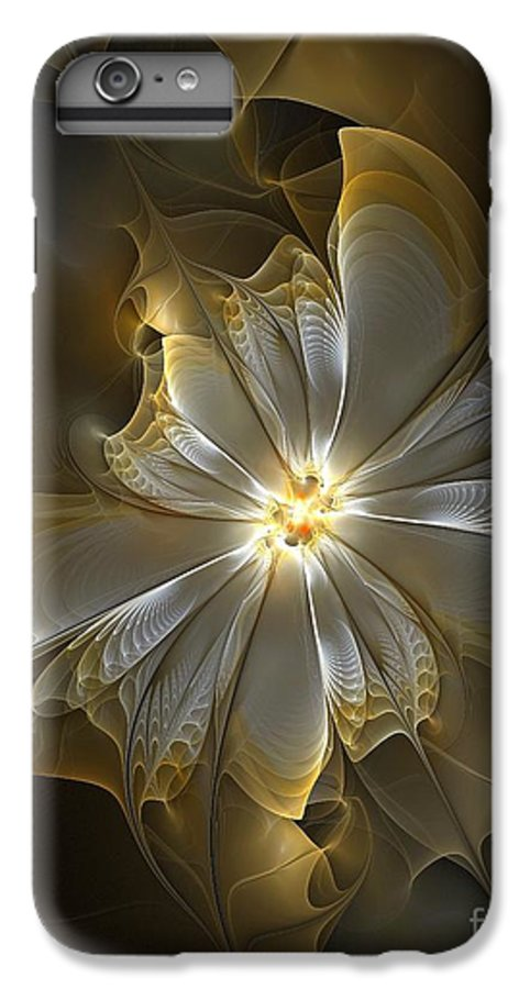 Digital Art IPhone 6s Plus Case featuring the digital art Glowing In Silver And Gold by Amanda Moore