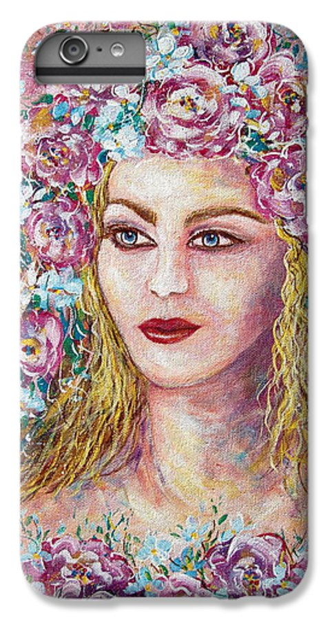 Goddess Of Good Fortune IPhone 6s Plus Case featuring the painting Goddess Of Good Fortune by Natalie Holland