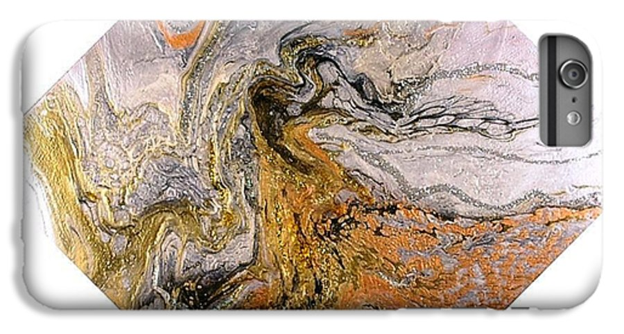 Abstract IPhone 6s Plus Case featuring the painting Goddess by Patrick Mock
