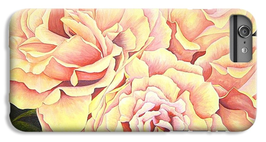 Roses IPhone 6s Plus Case featuring the painting Golden Roses by Rowena Finn