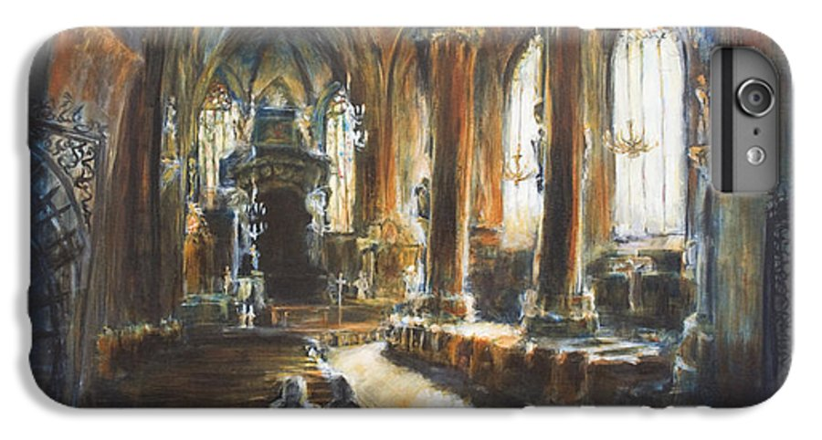 Church IPhone 6s Plus Case featuring the painting Gothic Church by Nik Helbig