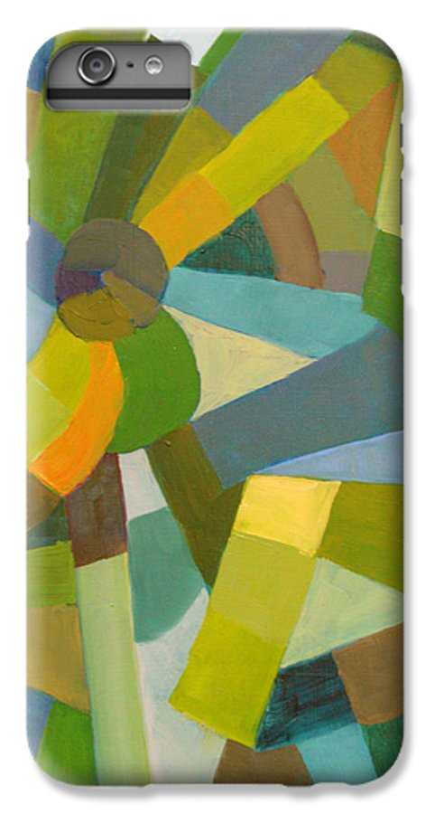 Green IPhone 6s Plus Case featuring the painting Green Pallette by Art Nomad Sandra Hansen