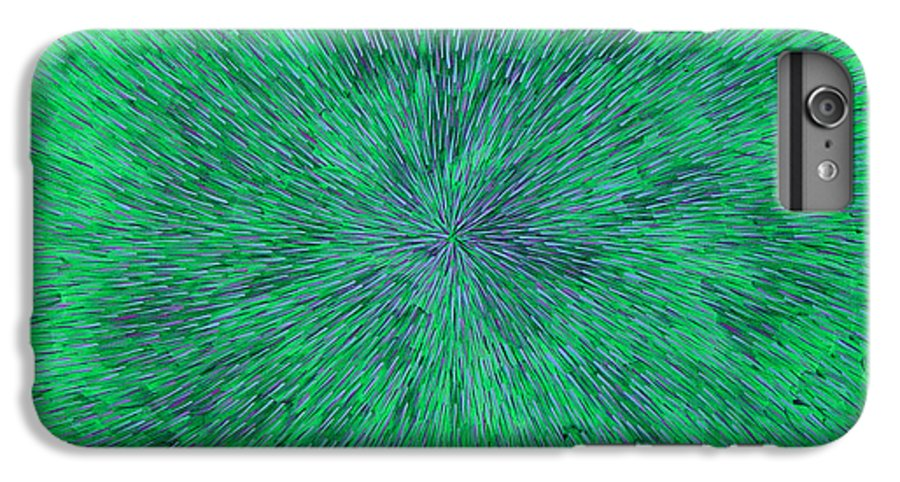 Abstract IPhone 6s Plus Case featuring the painting Green Radation With Violet by Dean Triolo