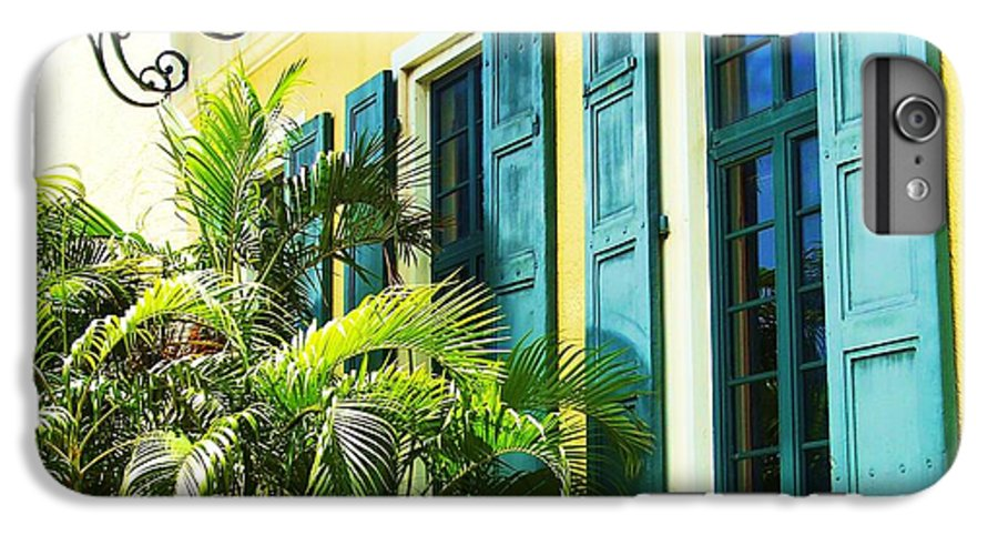 Architecture IPhone 6s Plus Case featuring the photograph Green Shutters by Debbi Granruth