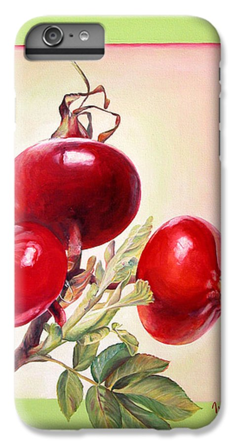 Still Life IPhone 6s Plus Case featuring the painting Grenadine by Muriel Dolemieux