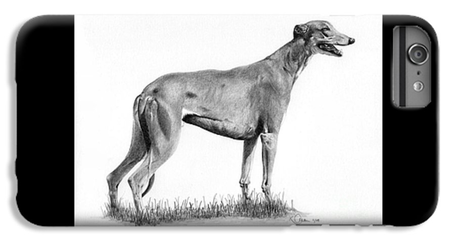 Dog IPhone 6s Plus Case featuring the drawing Greyhound by Karen Townsend