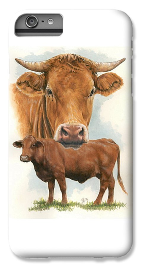 Cow IPhone 6s Plus Case featuring the mixed media Guernsey by Barbara Keith