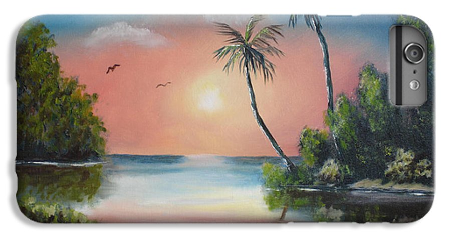 Sunset IPhone 6s Plus Case featuring the painting Gulf Coast Sunset by Susan Kubes